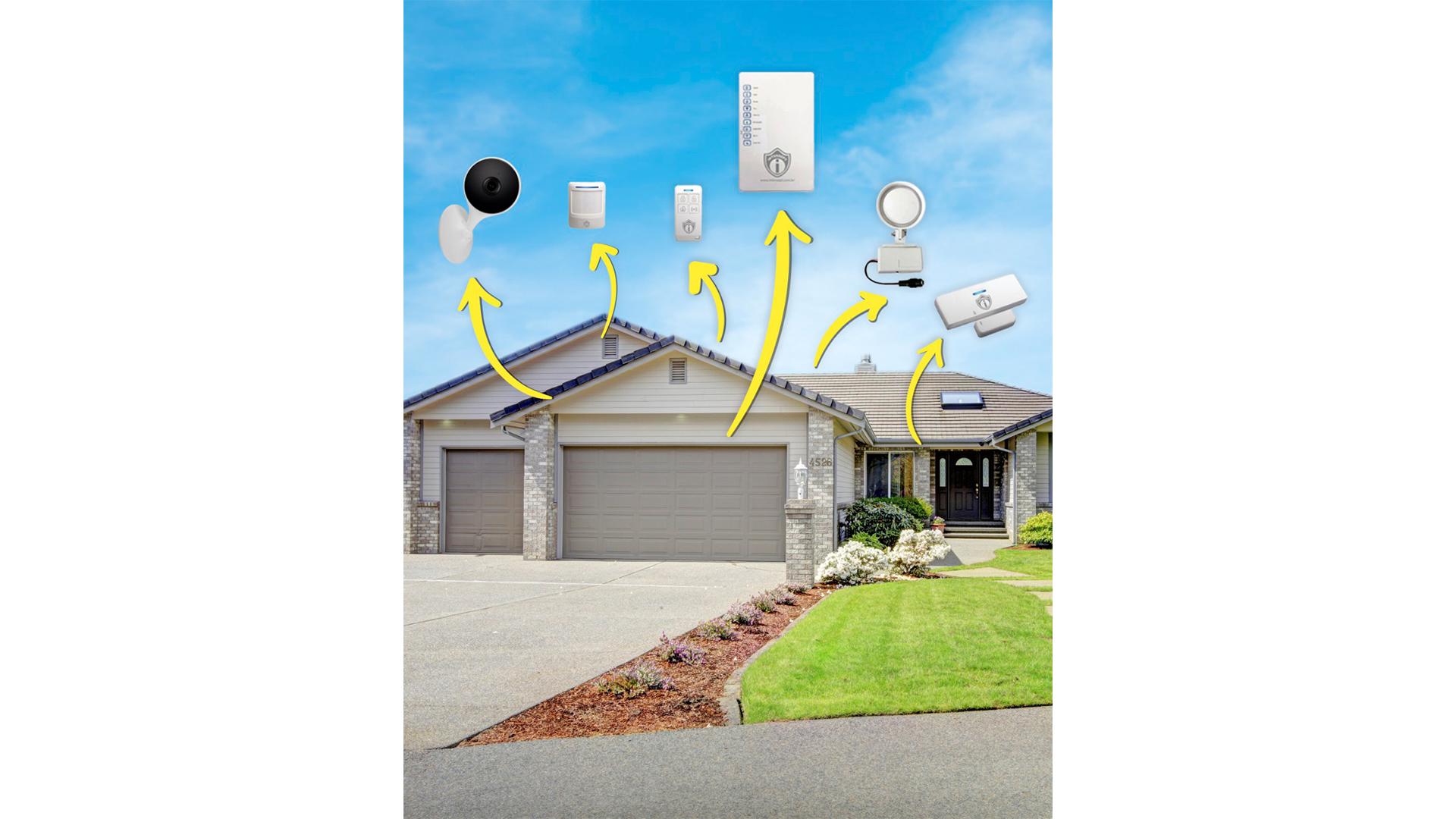 Kit de Monitoramento Smart Alarme da Intersept é inteligente e totalmente sem fio.