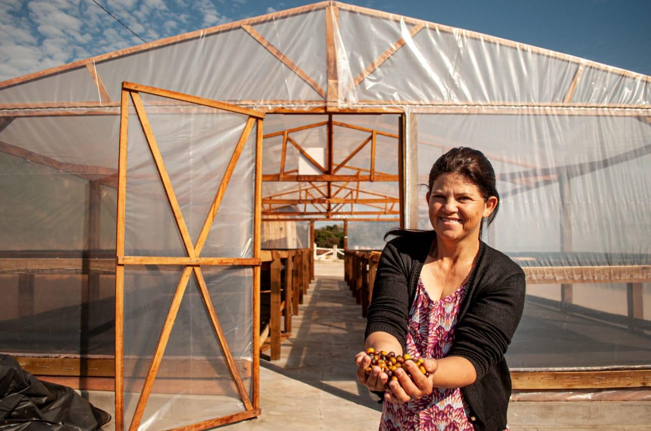 Maristela é uma das cafeicultoras do Norte Pioneiro que exportam seu produto para outros países. Foto: Projeto Mulheres Produzem