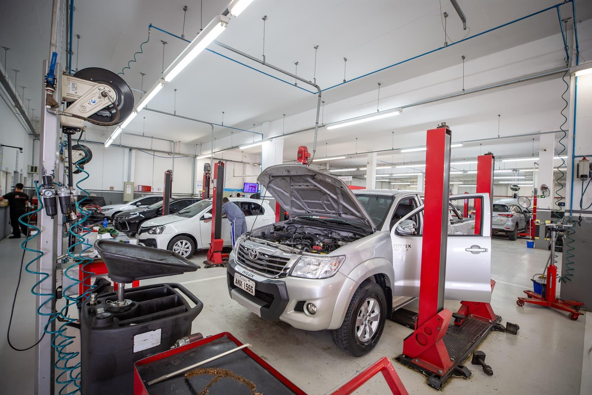 Oficina da concessionário Toyota Sulpar
