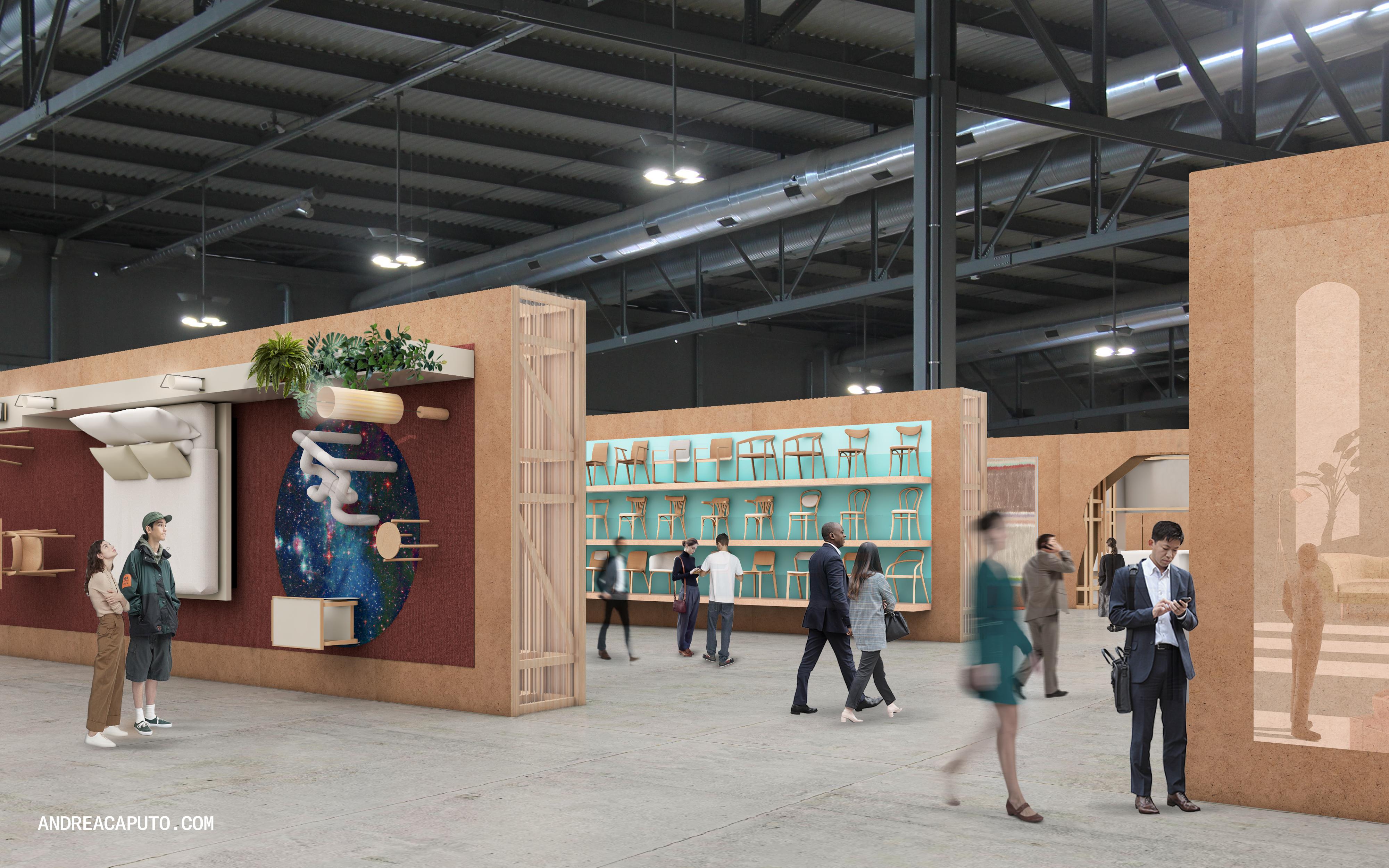 Render mostra como será a nova fórmula de exposição do evento de design, decoração e arquitetura.