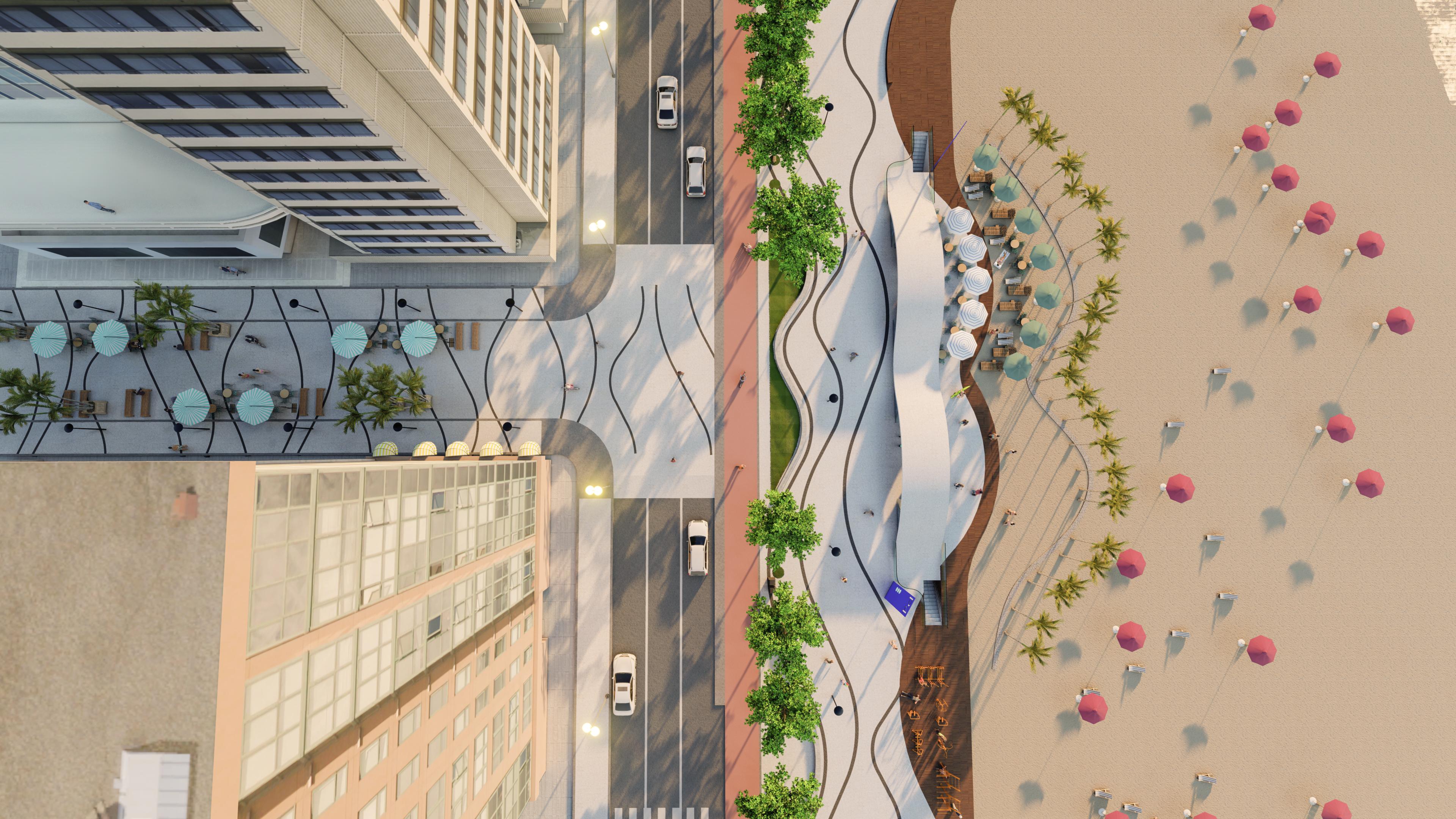 Fechamento de ruas para os pedestres está entre as soluções propostas no masterplan de Balneário Camboriú.