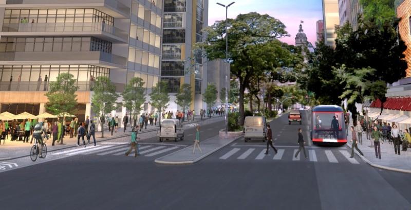 """Projeto """"Centro Novo"""", elaborado por Lerner e sua equipe para São Paulo."""