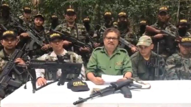Em vídeo, o guerrilheiro das Farc Iván Márquez aparece com armamento pesado. Grupos armados têm aumentado a presença na Venezuela