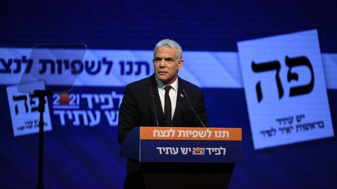 Yair Lapid, líder do Yesh Atid, busca acordo com diversos partidos israelenses para a formação de governo até a quarta-feira