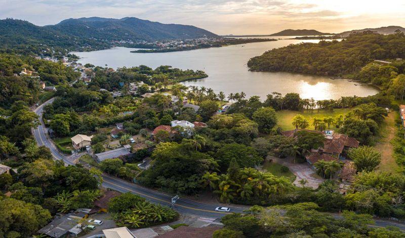 Vista da região da Lagoa da Conceição.