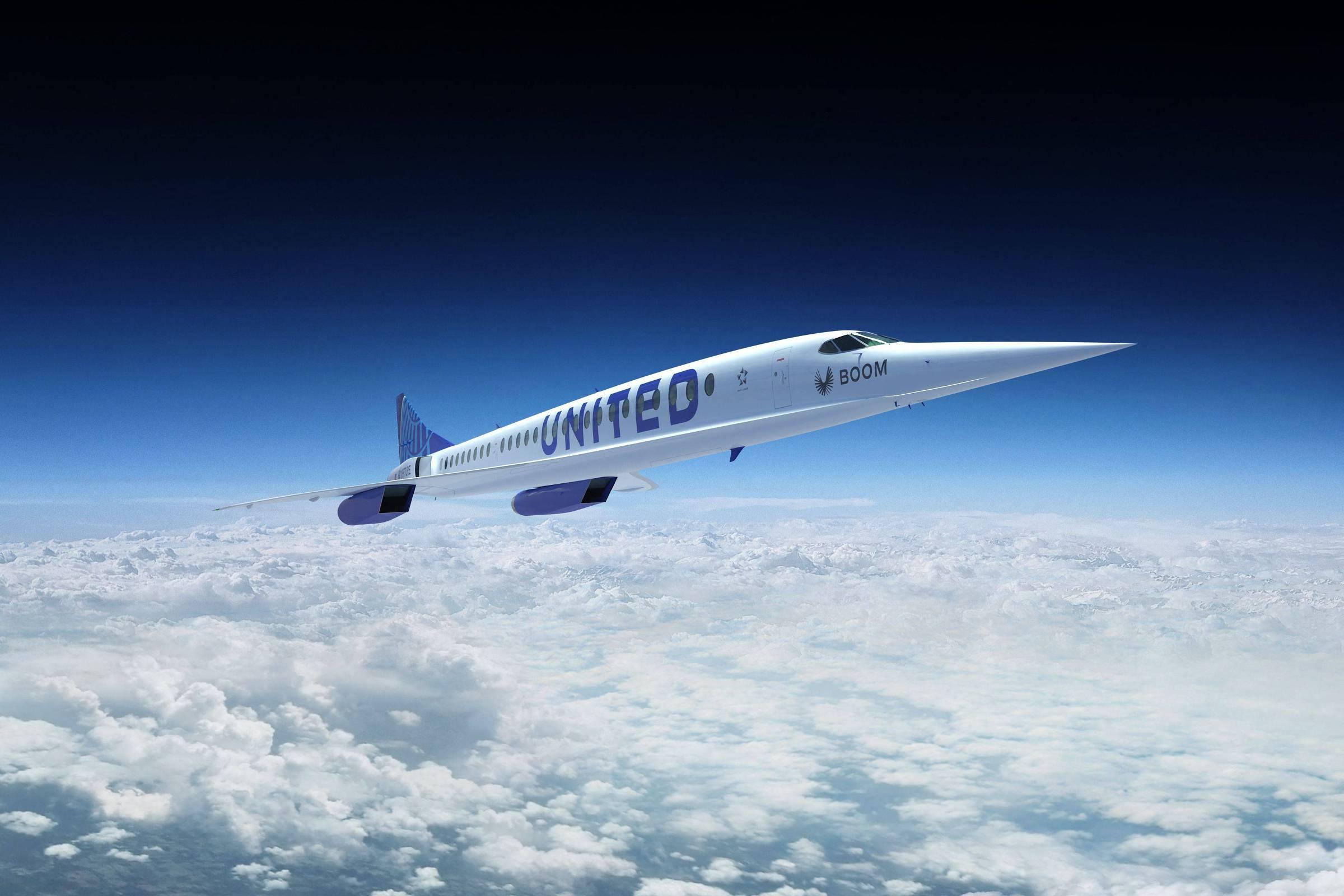 O avião supersônico vai fazer o trajeto São Francisco / Tóquio em apenas seis horas. (crédito: Reprodução/AFP).