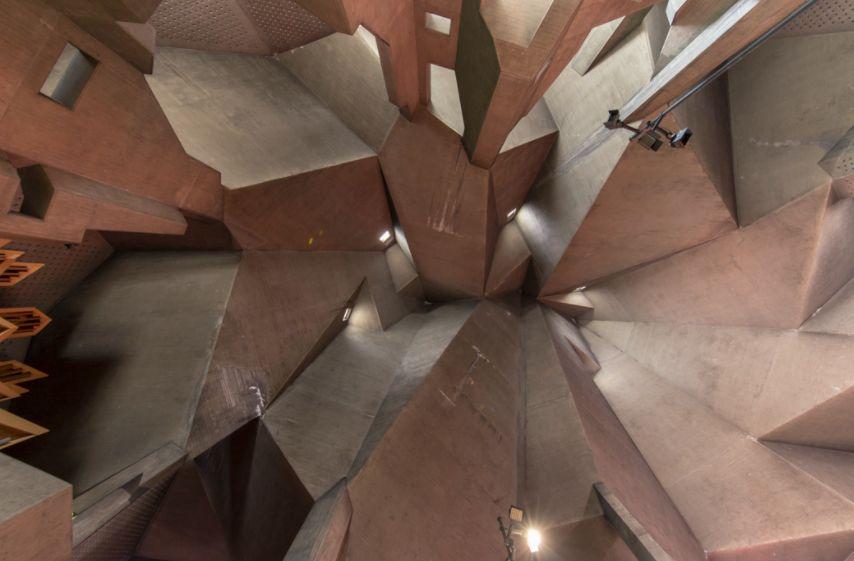Interior da Igreja da Peregrinação de Neviges.