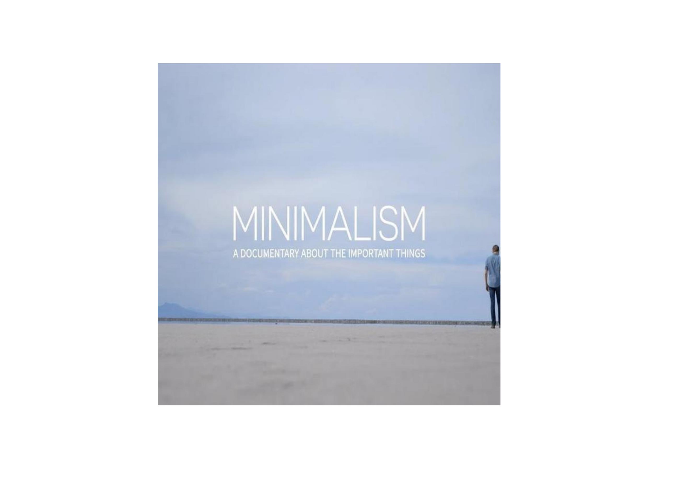 """Dicas: Documentário """"Minimalismo"""", Netflix"""