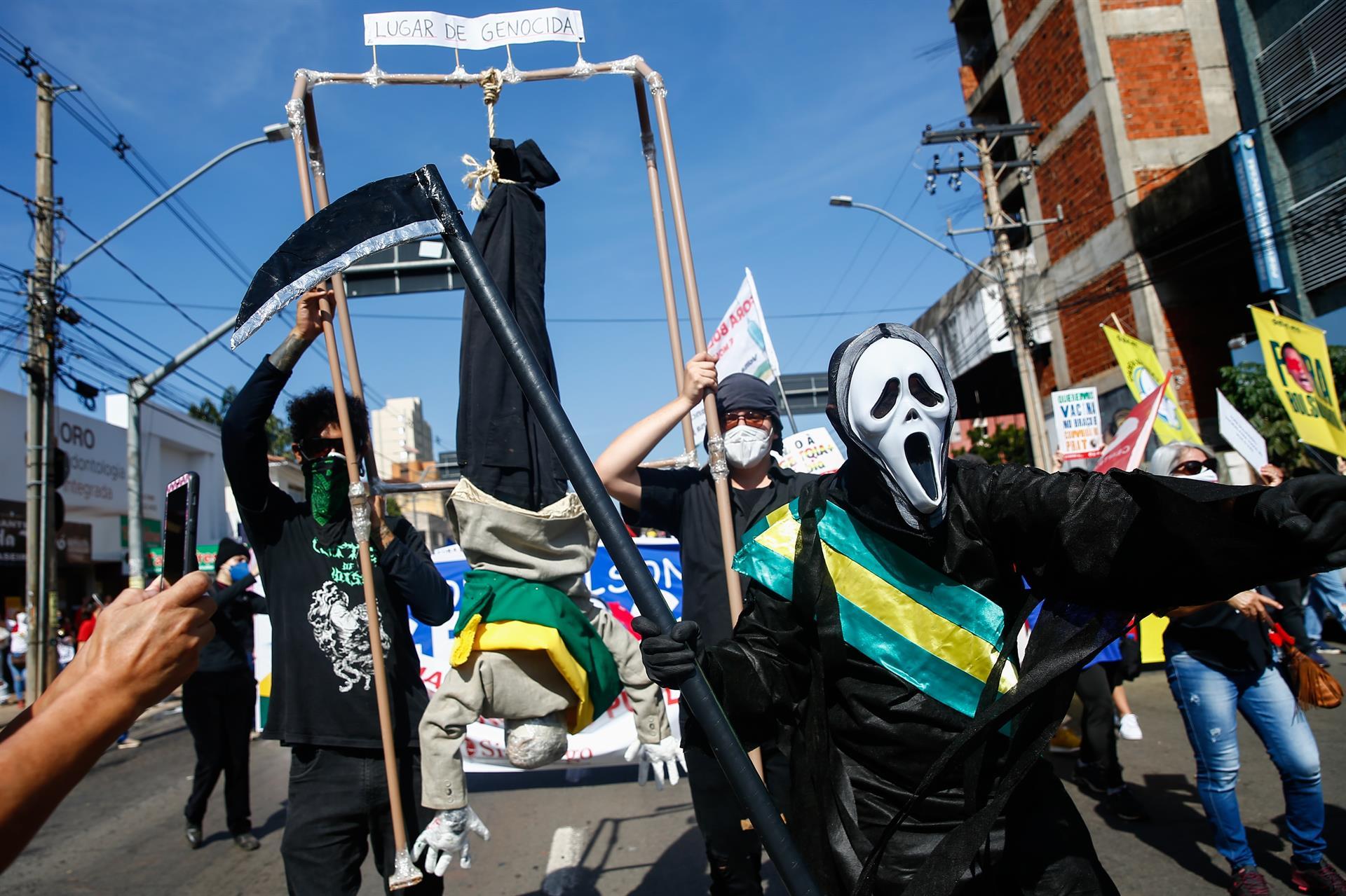 Protesto em Goiânia. Foto: Agência EFE