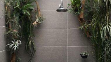 """Shower plants"" leva conceito do ""urban jungle"" para dentro do box do chuveiro"