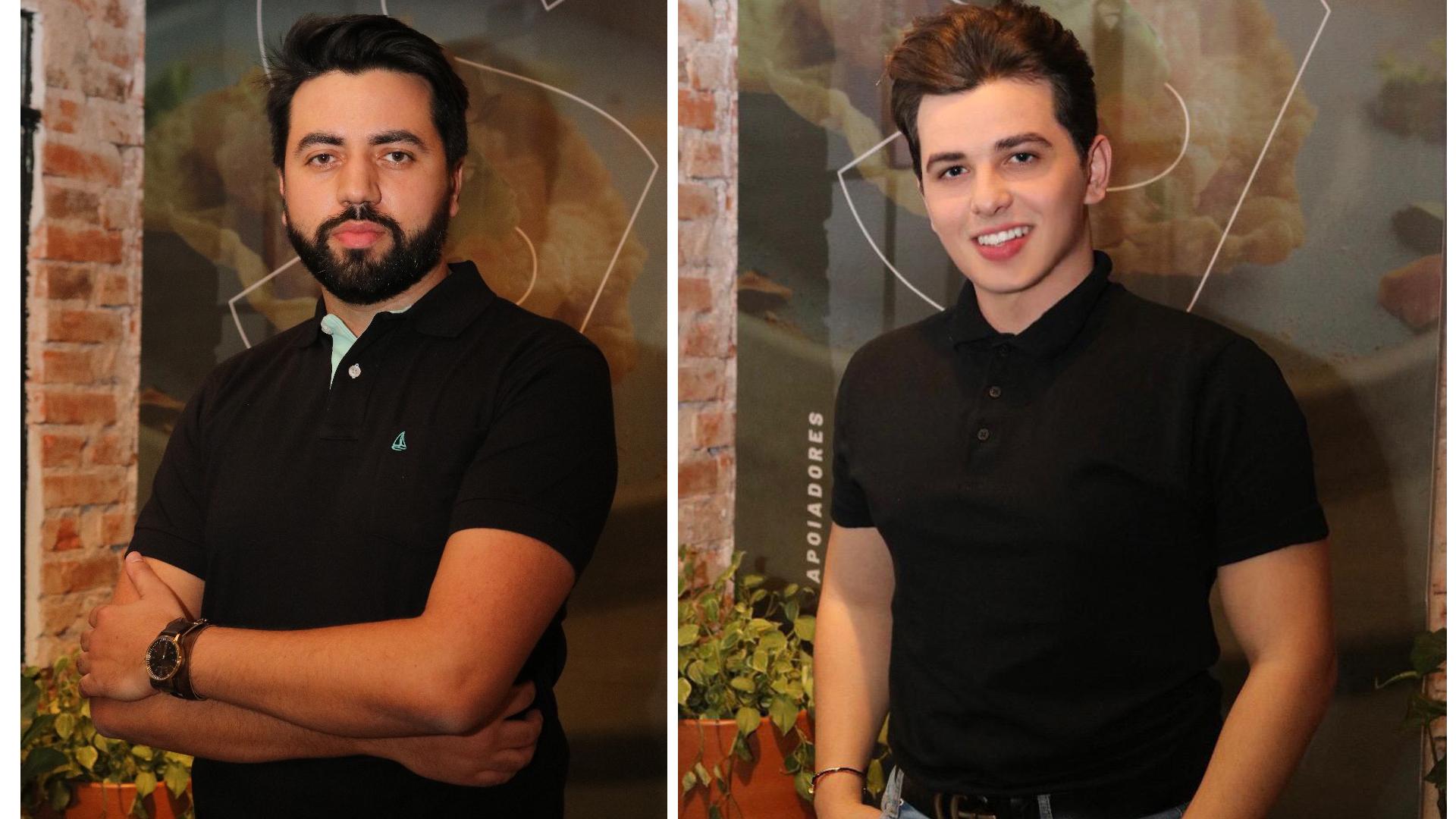 Sócios do Sacas Givago Ferentz e Carlos Eduardo Cabral. (Givago é o de barba)