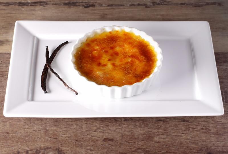 Crème brûlée de baunilha, a sobremesa.