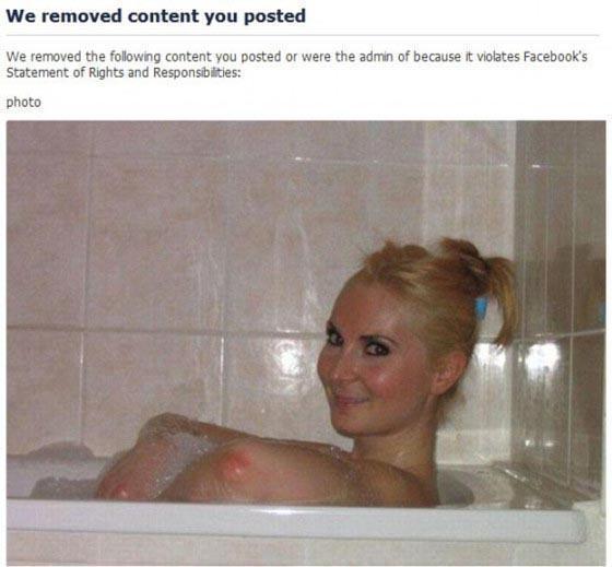 Imagem em que o Instagram confundiu cotovelos com seios