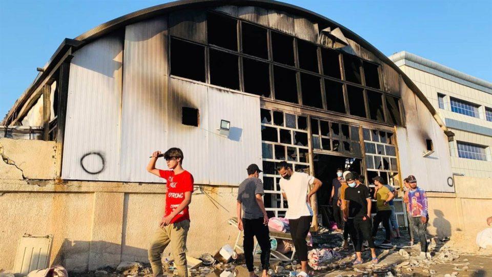 Incêndio atingiu um hospital na cidade de Nasiriya, no sul do Iraque, que tratava pacientes isolados com Covid-19
