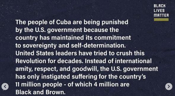 Nota do Black Lives Matter sobre os protestos em Cuba