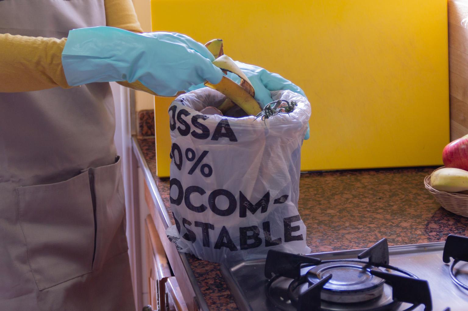 Material produzido a partir do bagaço da cana é compostável.