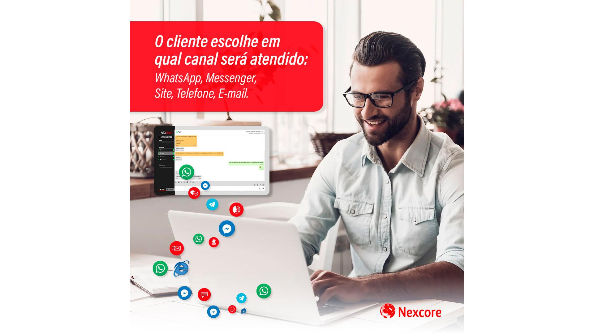 O Nexus permite a oferta de diversas opções de comunicação para a escolha dos clientes da empresa.