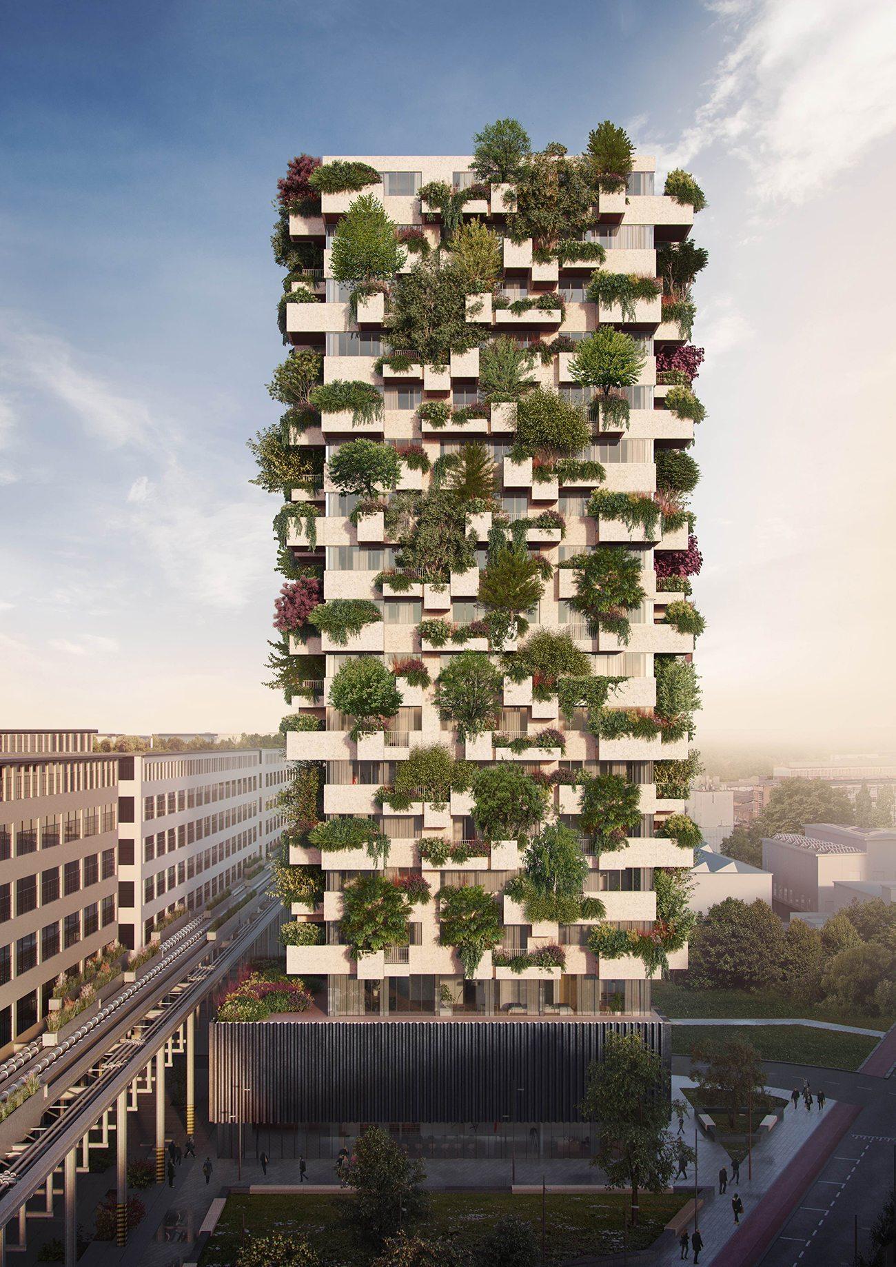 Perspectiva de como será o prédio de 19 andares no sul da Holanda.
