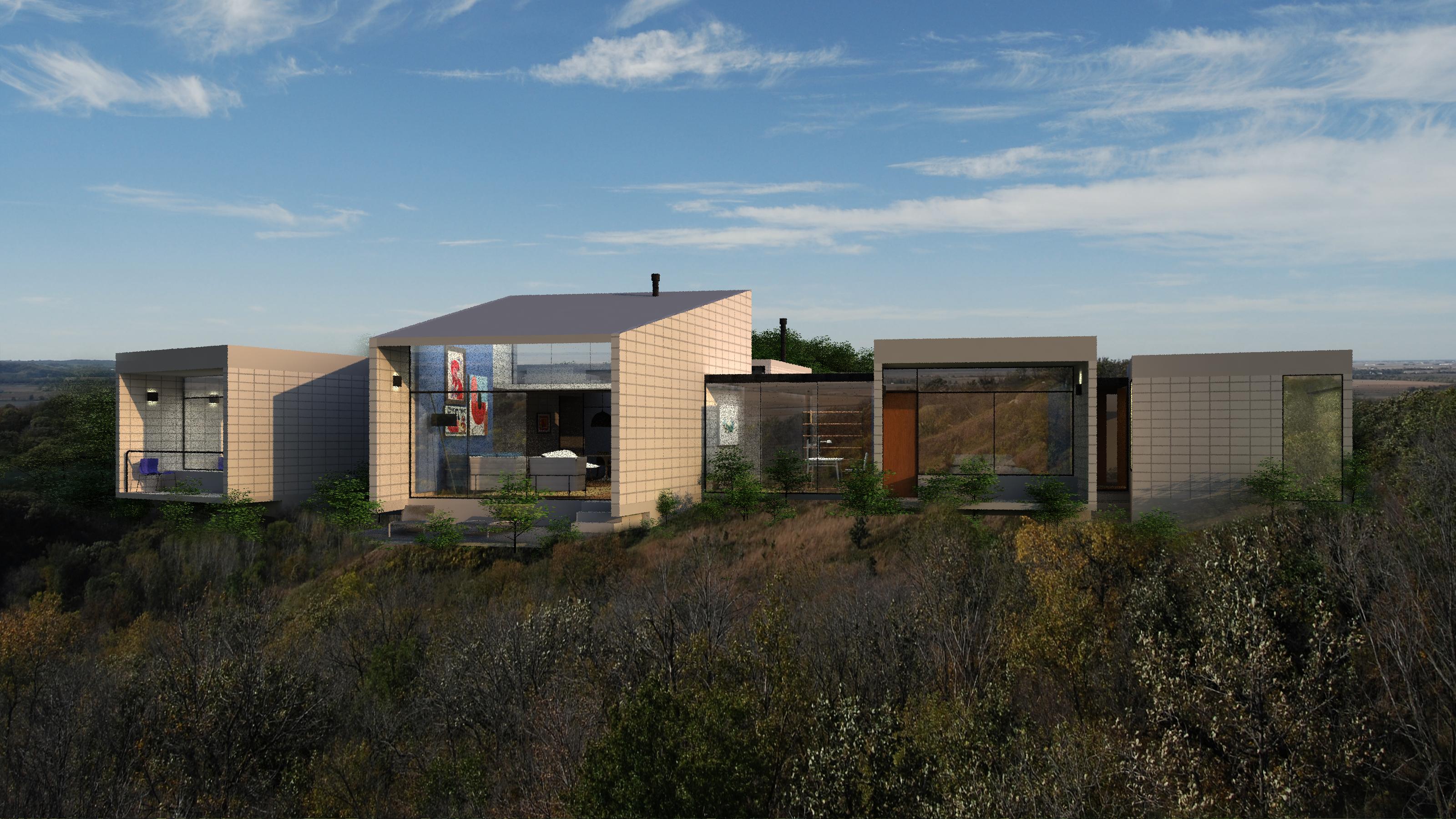 Na arquitetura em módulos, a proposta é uma residência não monolítica.