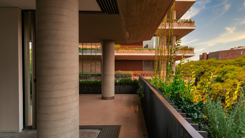 Edifício Ícaro, da AG7, traz o conceito de casa suspensa.