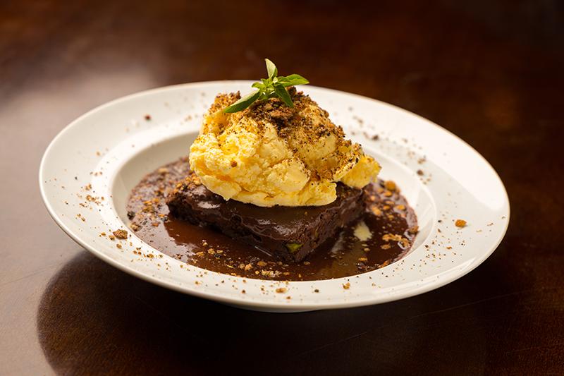 Brownie de pistache do Aish Baladi, servido no Festival Bom Gourmet