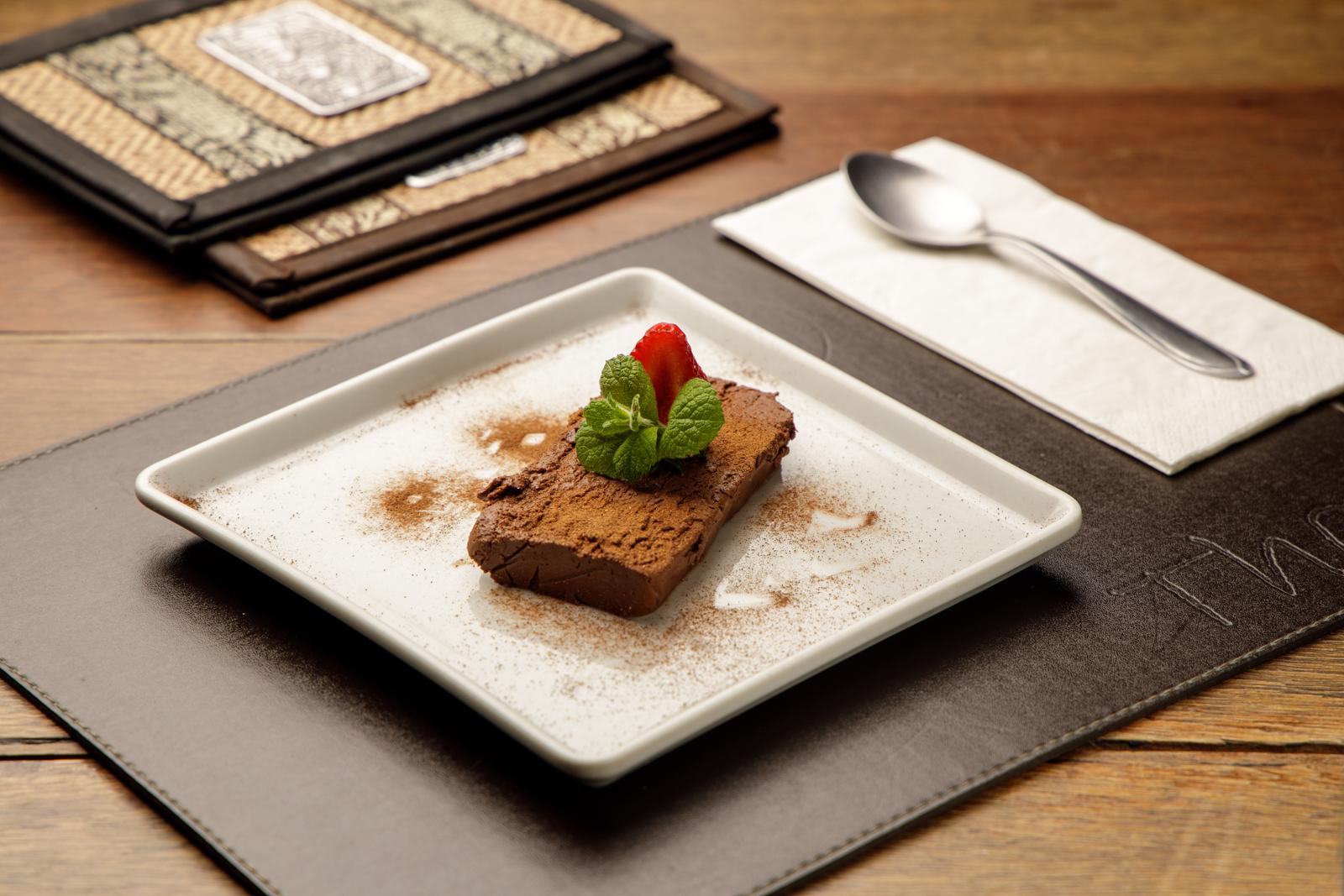Mousse de chocolate, do Thai, servido no festival Bom Gourmet