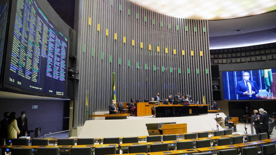 Plenário da Câmara, na reunião do Congresso sobre a LDO