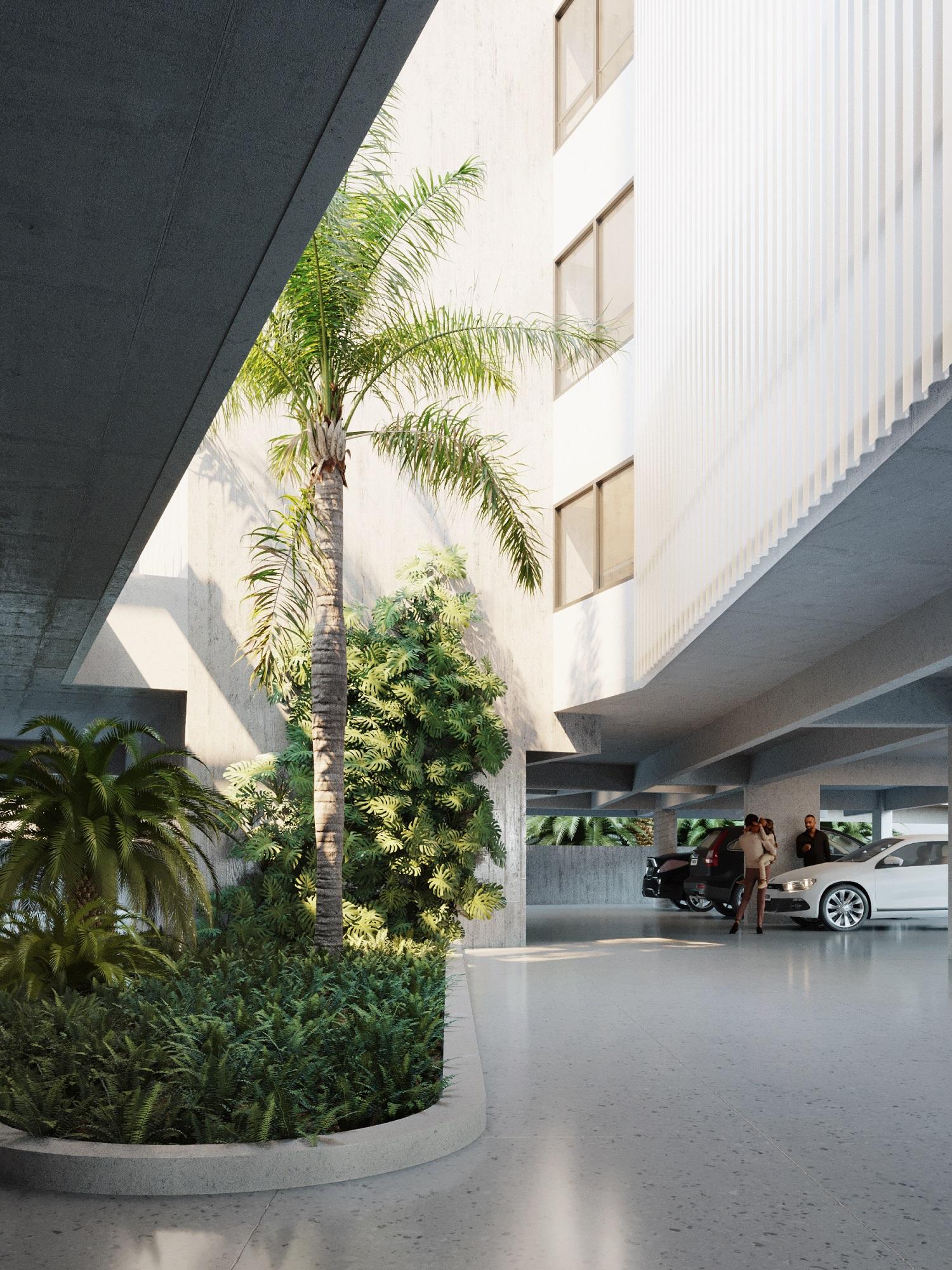 Paisagismo do edifício será formado por espécies nativas.