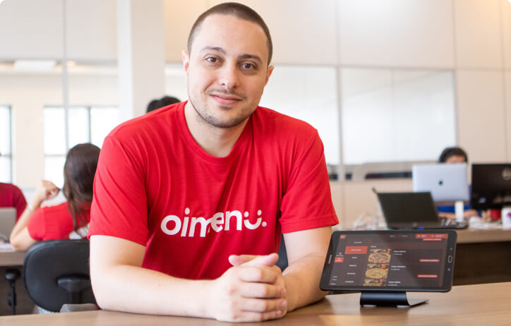 Isaac Paes, CEO e fundador da OiMenu