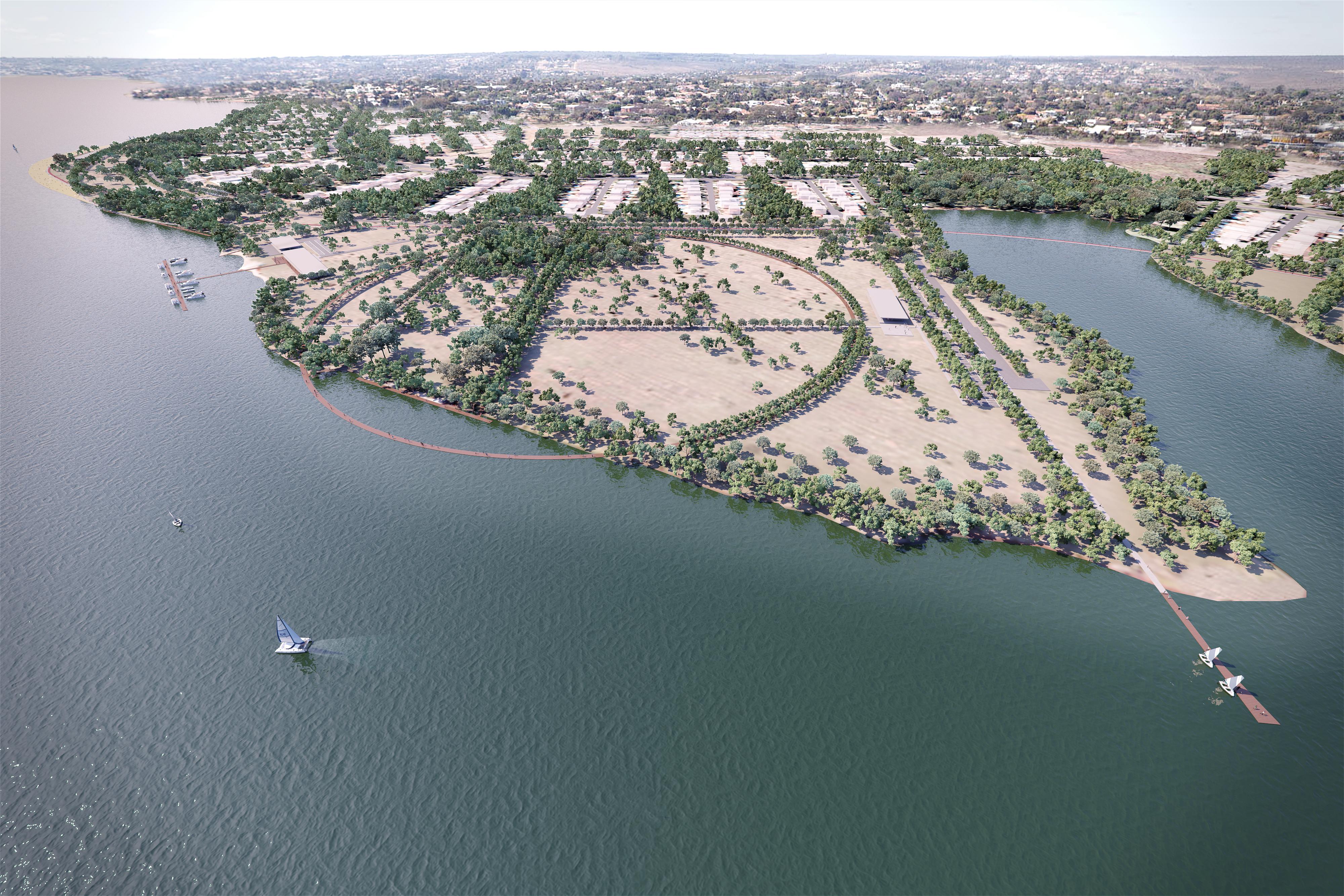 O escritório Estúdio 41, de Curitiba, foi o vencedor do concurso público do masterplan da Orla do Lago Paranoá, em Brasília, em 2018.