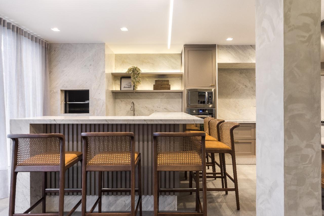 projeto de arquitetura residencial com mármore