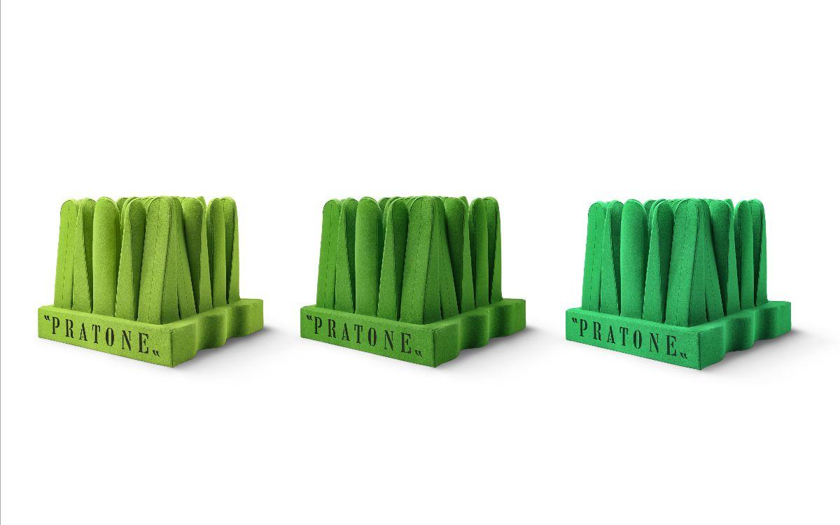 Nova versão da Pratone, com 25 troncos e em tecido.