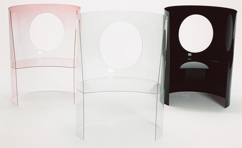 Releitura da Nendo, por Oki Sato, da cadeira Medallion para Dior.