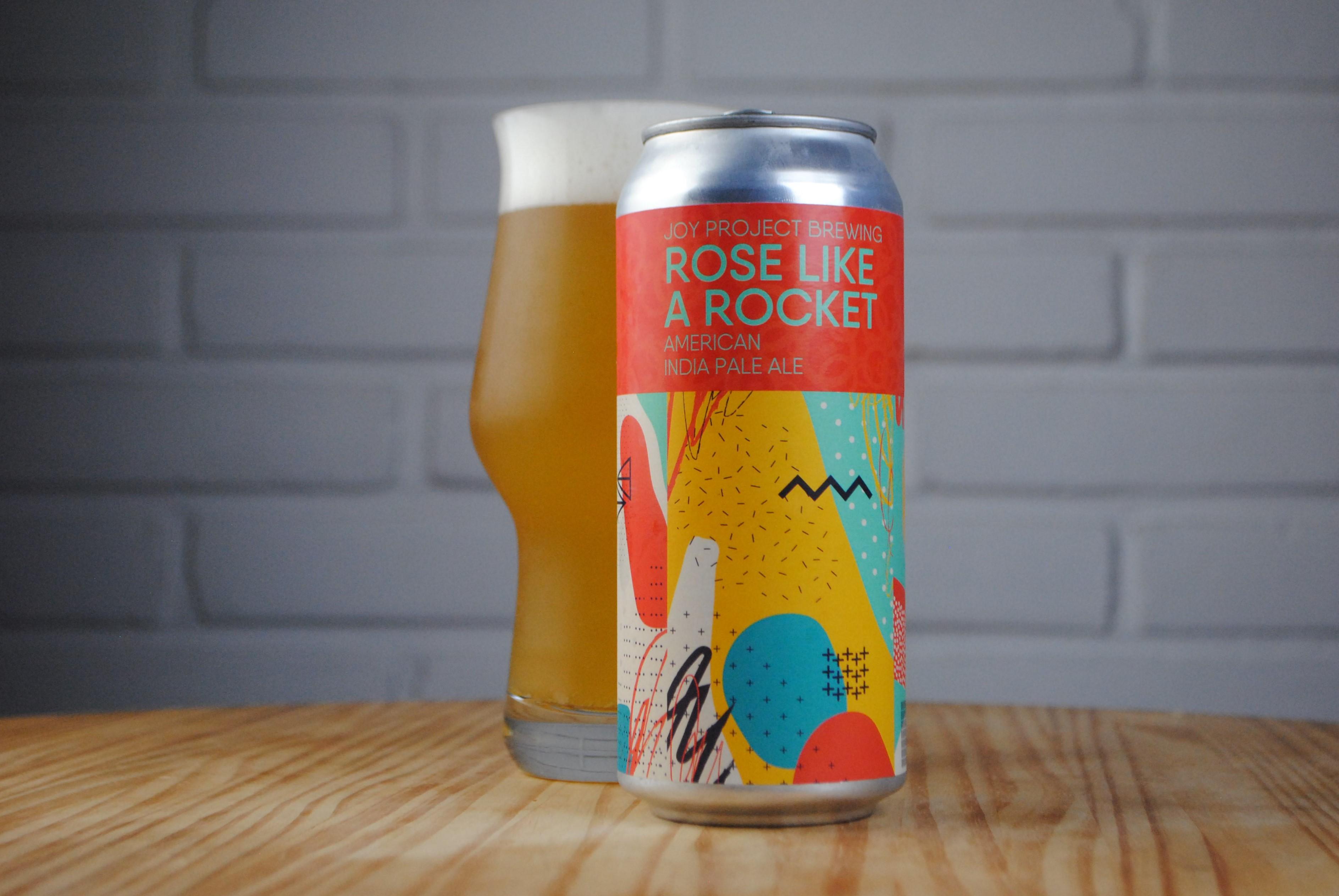 Rose Like a Rocket - uma American India Pale Ale, que aposta na combinação dos lupúos Cashmete, Citra Lupomax e Strata.