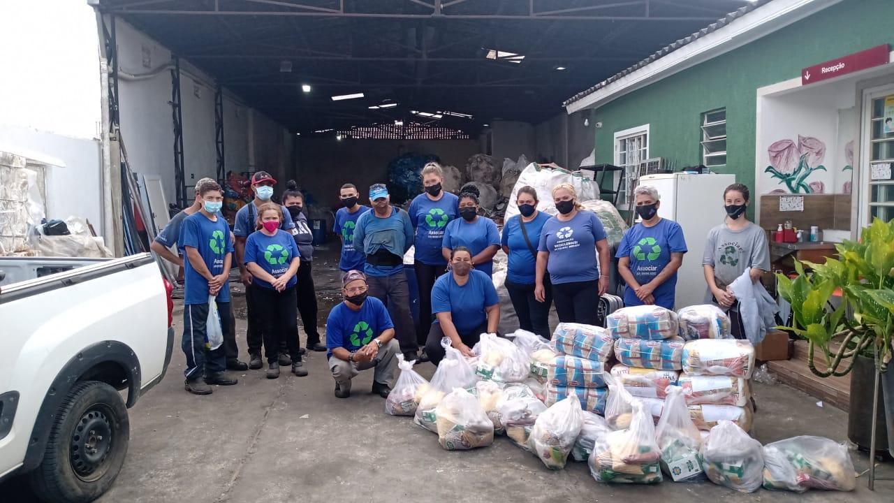 Na associação de recicladores Recicle Mais, volume de lixo recebido caiu de 12 para 5 toneladas por semana. (Divulgação/Recicle Mais).