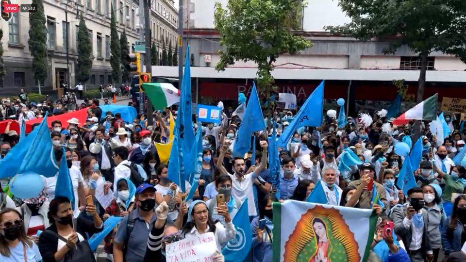 Manifestação pró-vida no México