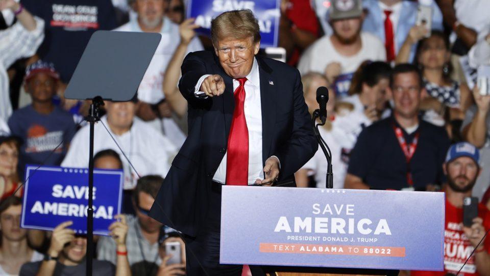 Trump em manifestação do Partido Republicano no Alabama, no final de agosto