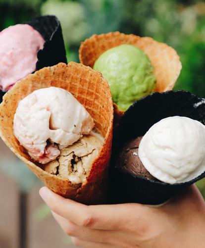 Na imagem, sorvetes de vários sabores.