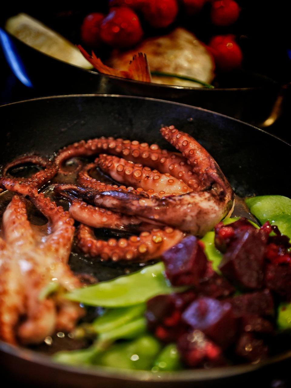O polvo é um dos ingredientes nobres do menu do Fish*me. Foto: Divulgação