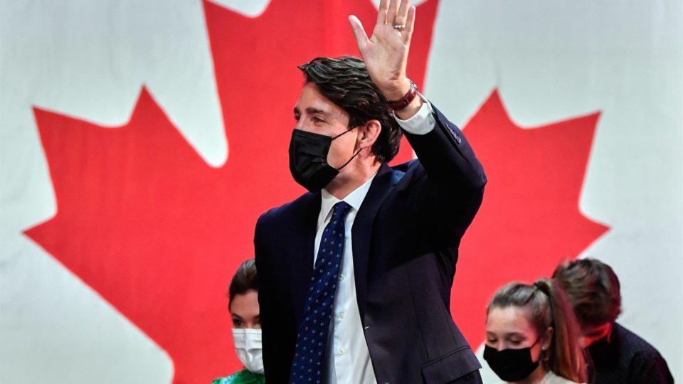 Justin Trudeau, primeiro-ministro do Canadá e líder do Partido Liberal, comemora sua vitória eleitoral em Montreal, Quebec, Canadá, 20 de setembro