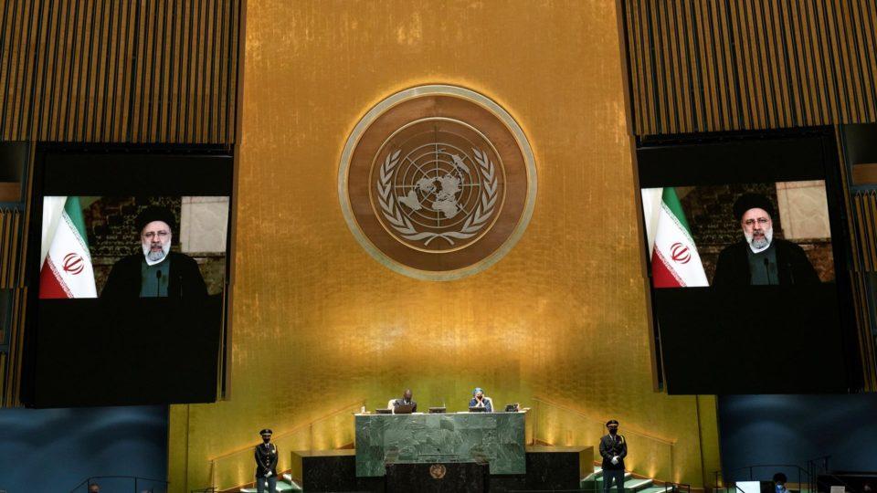 Discurso de Ebrahim Raisi foi transmitido na Assembleia Geral da ONU