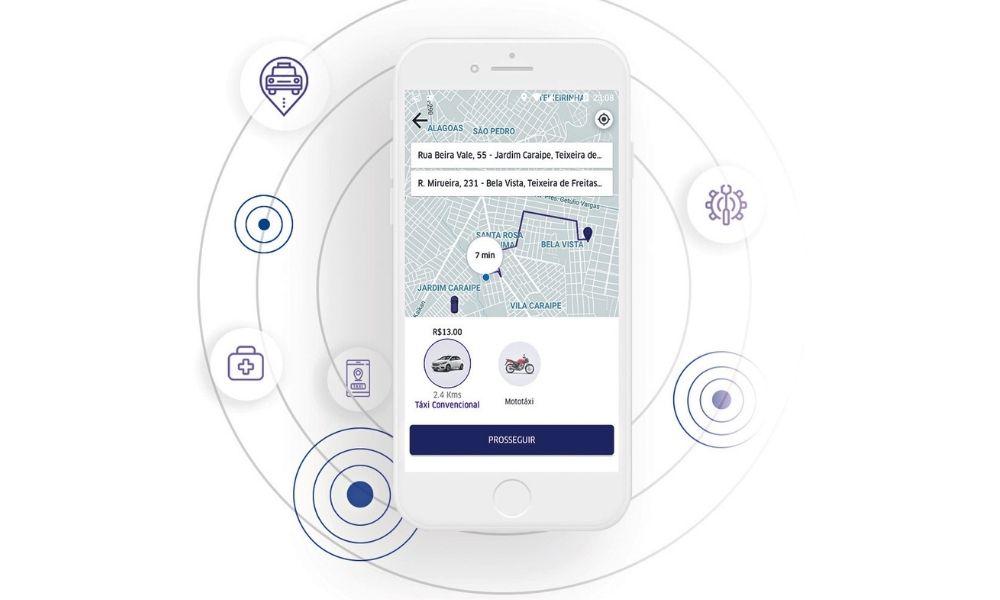 Na imagem, print do aplicativo da Drivers Mulheres.