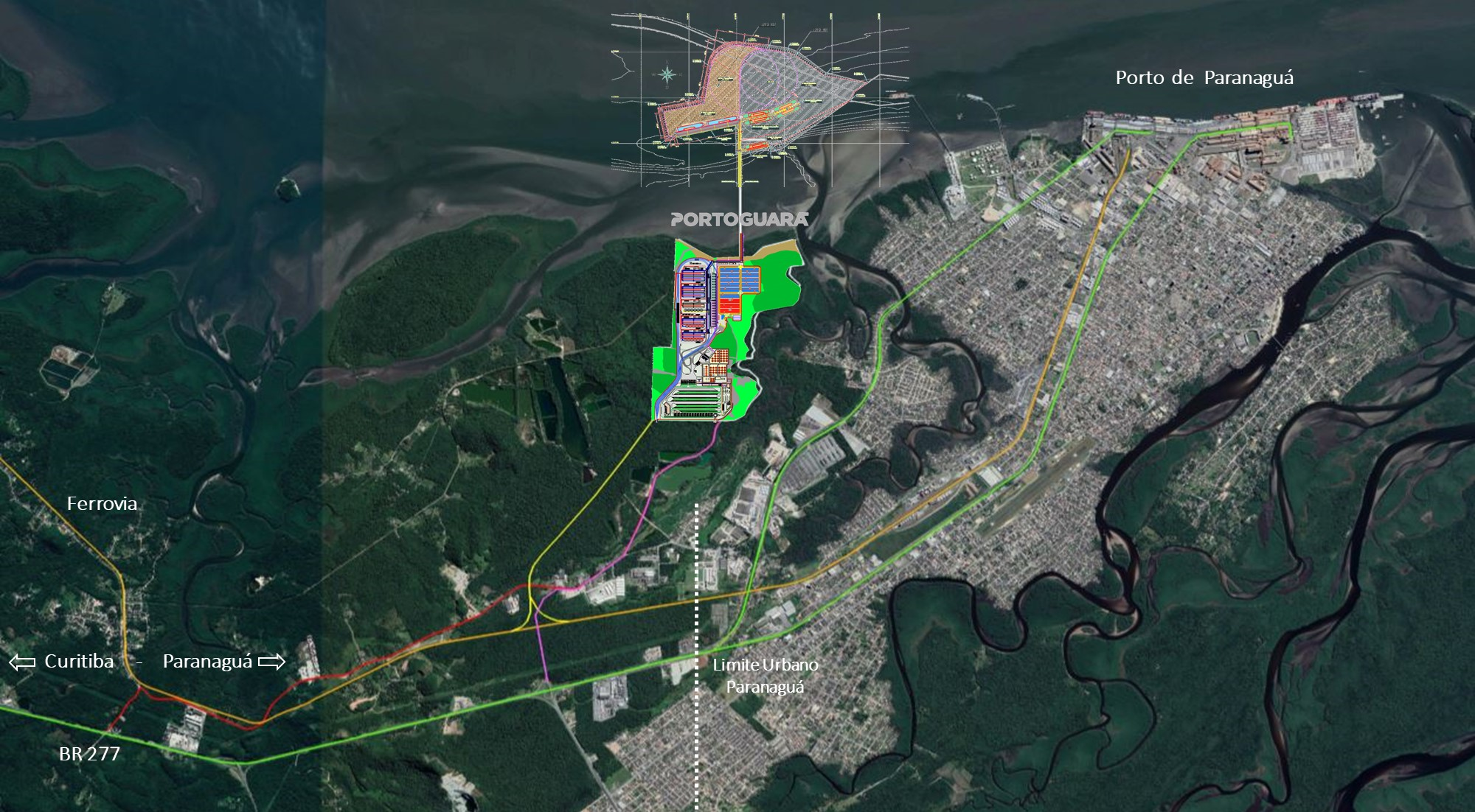 O Portoguara terá 1,2 milhão de metros quadrados de área operacional. (Divulgação/Portoguara).