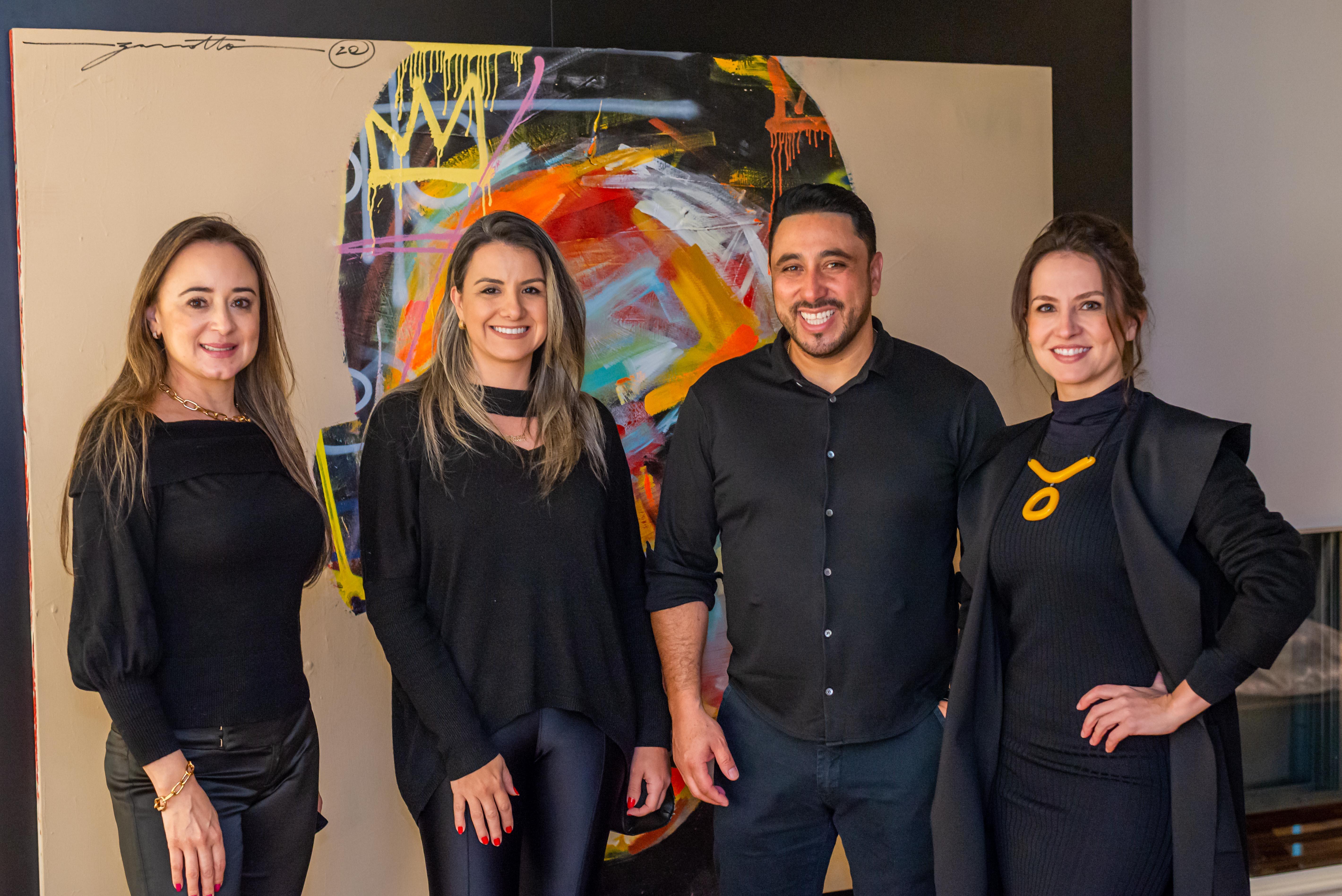 Alessandra Ramos, Ediane Tramujas, Eleandro Miranda e Ana Crivellaro.