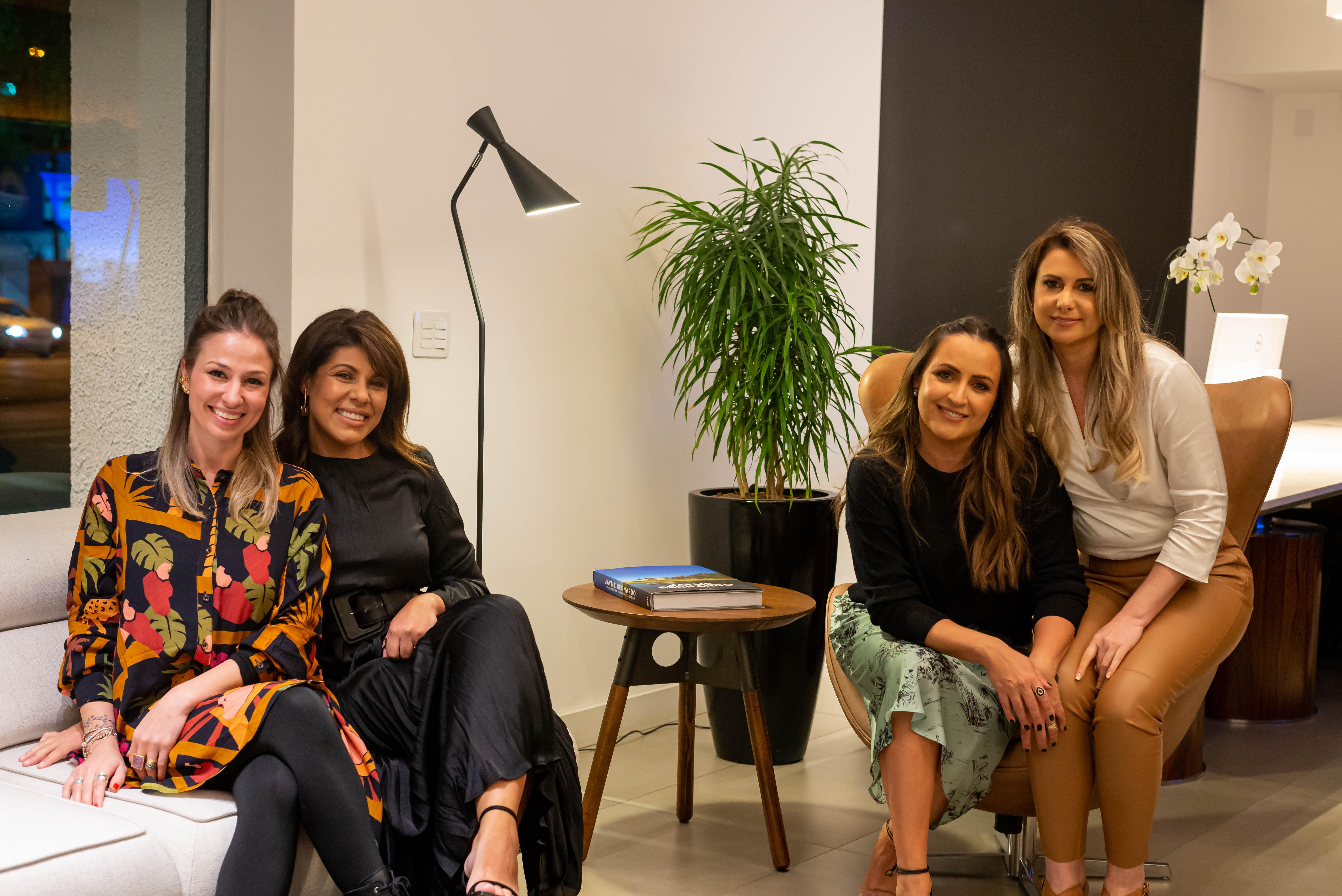 Thais Dario, as sócias da Mobitec, Patrícia Miranda e Eliana Miura, e Juliana Ricciardi.
