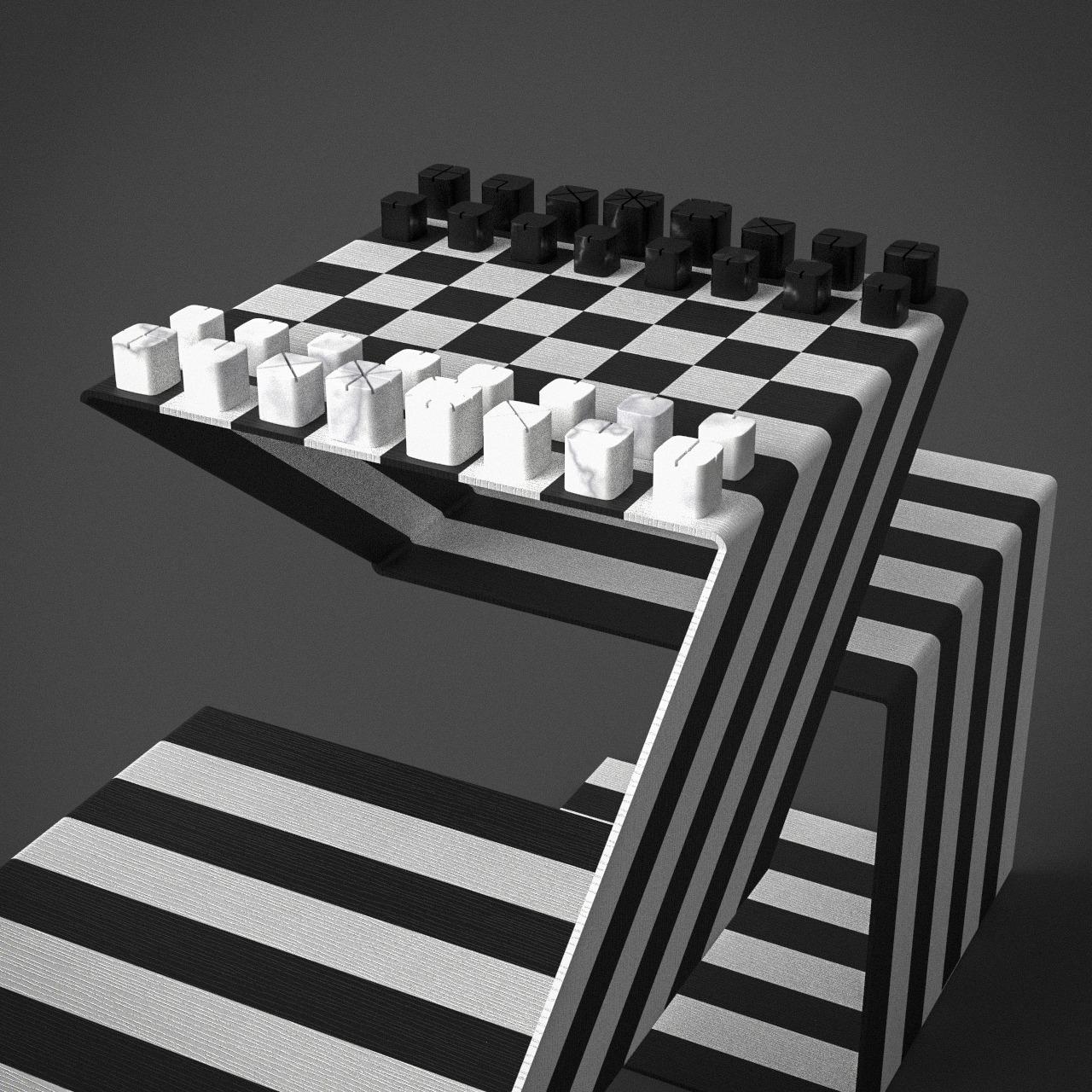 Mesa de xadrez Cambito, da Mula Preta