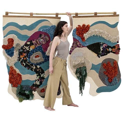 Tapeçaria Sirena Pesce, do Designer Kiko Maldonado
