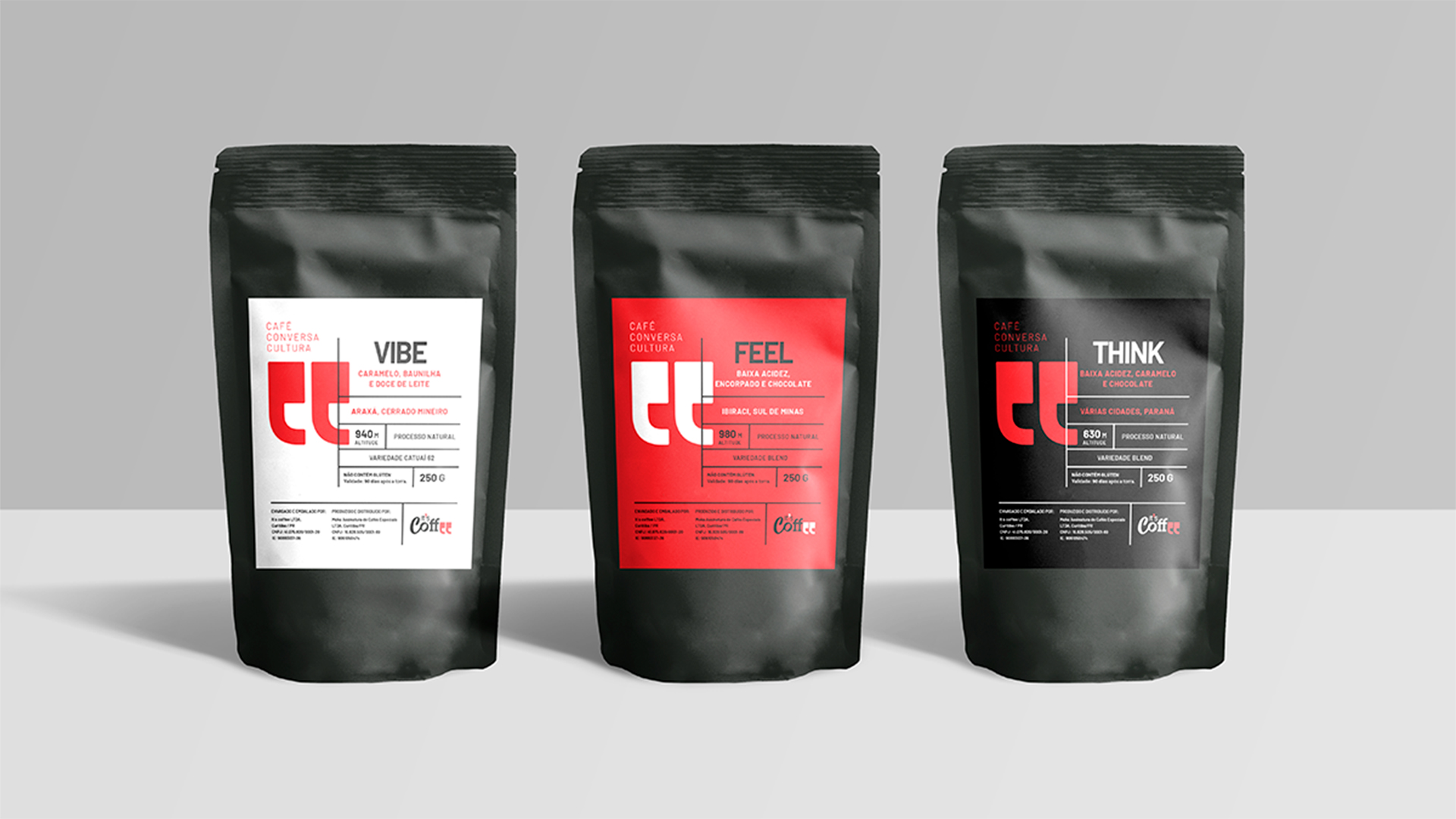 Identidade visual da It's Coffee desenvolvida pela Doma Design
