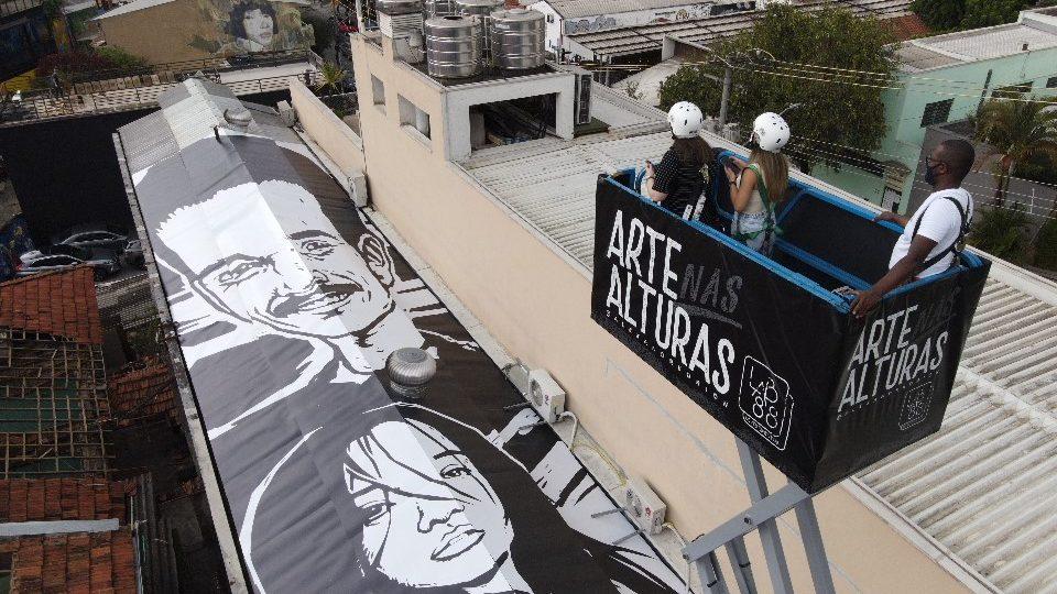 Beco do Batman visto das alturas e intervenções artísticas são destaques da Vila Madalena na DW!