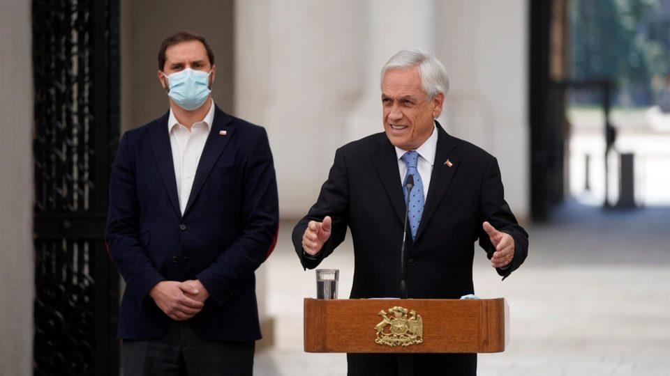 O presidente do Chile, Sebastián Piñera, no Palacio de la Moneda, em Santiago, 4 de outubro